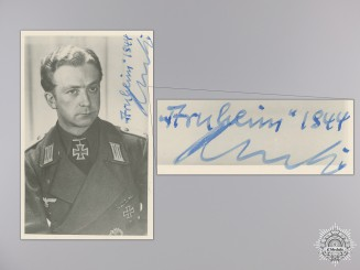 A Post War Signed Photograph of Knight's Cross Recipient; Kertz