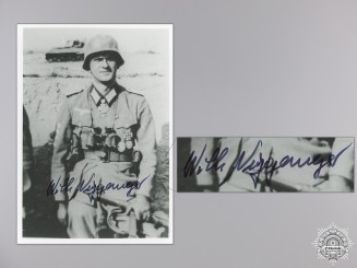 A Post War Signed Photograph of Knight's Cross Recipient; Niggemeyer