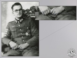 A Post War Signed Photograph of Knight's Cross Recipient; Niggemeyer