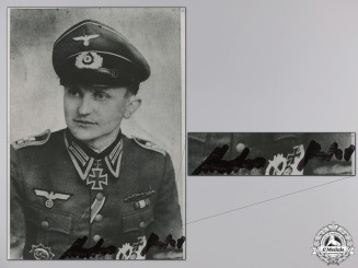 A Post War Signed Photograph of Knight's Cross Recipient; Merten