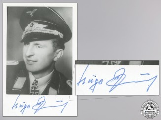 A Post War Signed Photograph of Knight's Cross Recipient; Paul