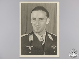 A Post War Signed Photograph of Knight's Cross Recipient; Graf