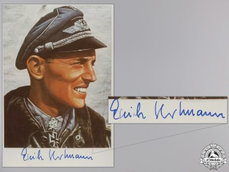 A Post War Signed Photograph of Knight's Cross Recipient; Hartmann
