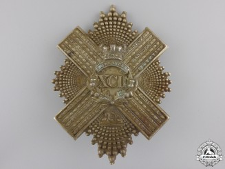 A Pre 1881 XCII 92nd Gordon Highlanders Uniform Cross Belt Badge Plate