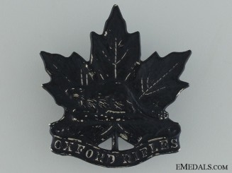 A Pre-WWI Oxford Rifles Cap Badge