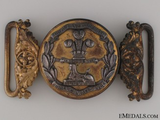 A Prince of Wales Volunteers Belt Buckle