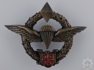 A Prototype Republic of Srpska Paratrooper Badge