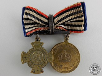 A Prussian Austrian War Miniature Pair