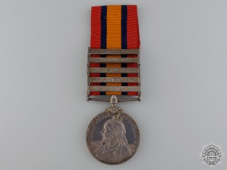 United Kingdom. A Queen's South Africa Medal, South Lancashire Regiment