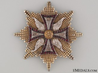 A Rare 1820's Order of White Eagle  Breast Star
