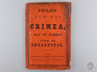 A Rare 1854 Philips' New Map of the Crimea