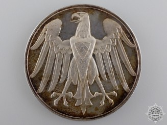 A Rare 1937 German Life Saving Medal in Silver