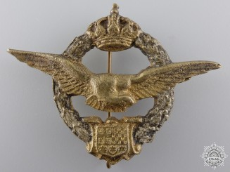 A Rare 1943 Yugoslavian Pilot's Badge for Egypt