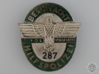 A Rare & Previously Published Mountain Guard Executive Badge