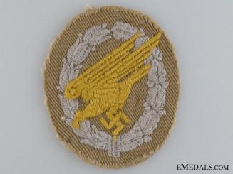 A Rare Afrikakorps Fallschirmj¡_ger Cloth Badge