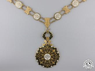 A Rare Algerian Order of National Merit; Adhir Class Collar