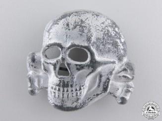 A Rare Belgian Made SS Visor Cap Skull