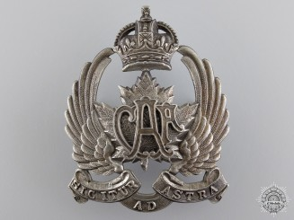 A Rare Canadian Air Force 1920-1924 Peaked Cap Badge