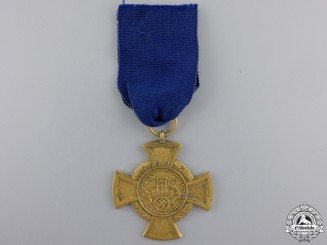 A Rare Danzig Faithful Service Decoration; 1st Class