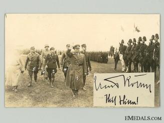 A Rare Ernst Röhm Autograph