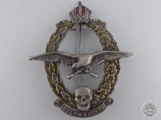 A Rare First War Austrian Sturmbattalion 13 Badge by Pramer, Wien