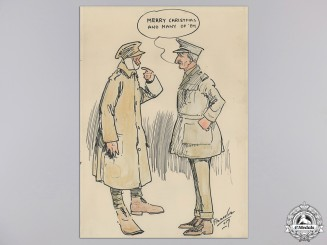 A Rare First World War Political Cartoon by J.B. Fitzmaurice