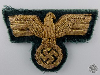 A Rare Forestry General's Visor Cap Eagle