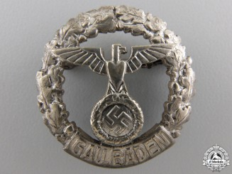 A Rare GAU Honor Badge Baden; Small Version