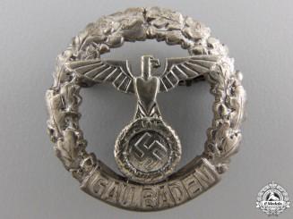 A Rare GAU Honor Badge Baden; Small Version