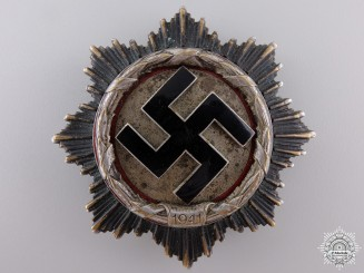 A Rare German Cross in Silver by Deschler