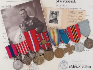Czechoslovakia. Rare Great War D.C.M. Group Attributed to a Czech Legionnaire