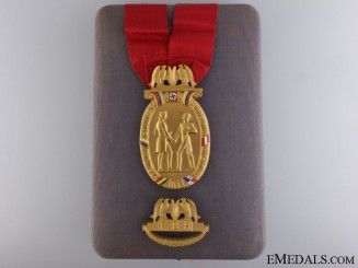 Germany, Third Reich. A Rare Humbolt & Bolivar Foundation Honor Badge to Willibald Fritsch