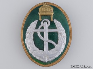 A Rare Hungarian Boat Leader's Badge