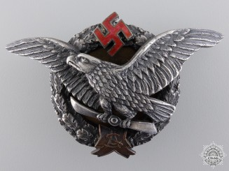 A Rare Latvian Army Pilot Military Aviation Academy Graduate Badge