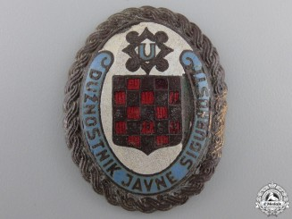 Croatia, Independent State. A Rare Internal Police Badge, c.1942
