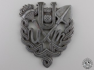 A Rare Ustasha Youth Breast Badge