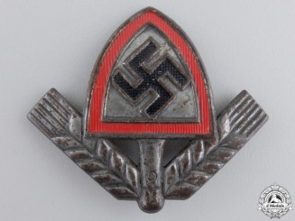 A Reich Labour Service (RAD) Cap Badge; Marked
