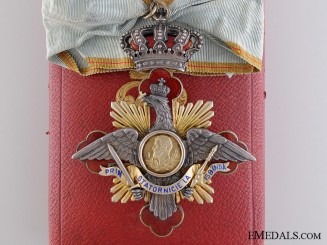 A Romanian Order of Carol I; Commander's Cross