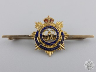 A Royal Army Service Corps Sweetheart Badge in Gold