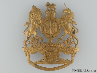 A Royal Canadian Artillery Officer's Helmet Plate c.1905