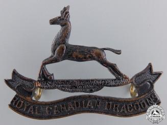 A Royal Canadian Dragoons Officer's Cap Badge