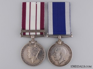 A Royal Naval Service Pair to W.C. Harber