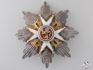 A Royal Norwegian Order of St. Olav; Grand Cross Star, Type II