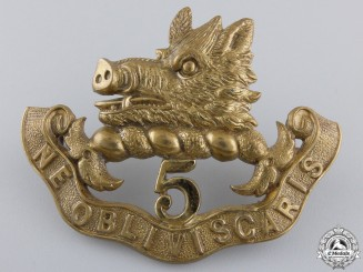 A Royal Scots of Canada Officer's and SNCO's Cap Badge; 1885 Pattern