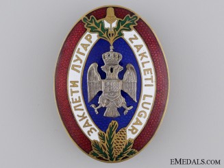 A Royal Yugoslav Badge of the Sworn Game Warden