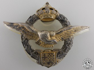 A Royal Yugoslav Pilot's Badge By Kovnica Sorlini