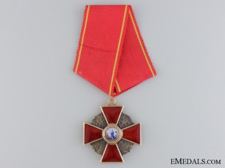 A Russian Order of St.Anne in Gold; Third Class by Albert Keibel