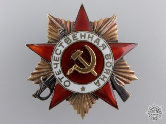 A Russian Order of the Patriotic War; First Class