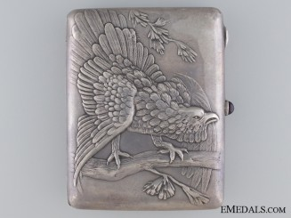 A Russian Silver Hunters Cigarette Case