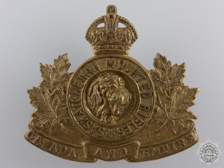 A Saskatchewan Mounted Rifles Cap Badge